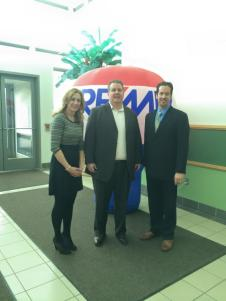 John Jamieson with Pam Bellante and Joe Sabatini of RE/MAX of Southeastern Michigan